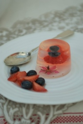 Jelly with summer berries