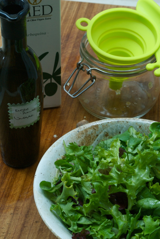 Green salad with Elderflower Vinegar