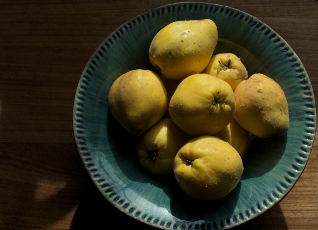 Quinces perfuming the kitchen