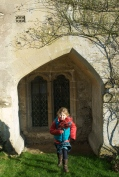 Imi at Lacock Abbey