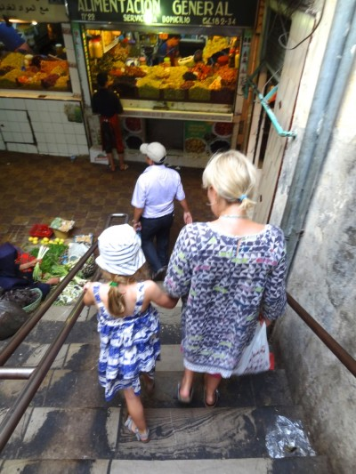 Down into the souk