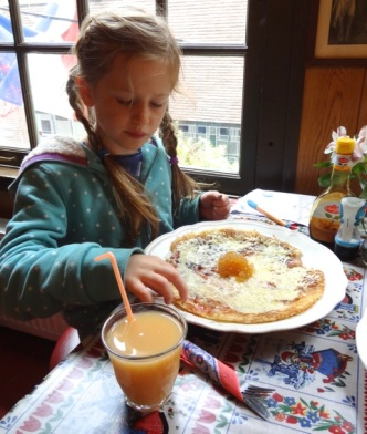 Jenny Chandler cheese and stem ginger pancake