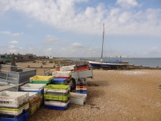 Oyster boxes in Whitstable
