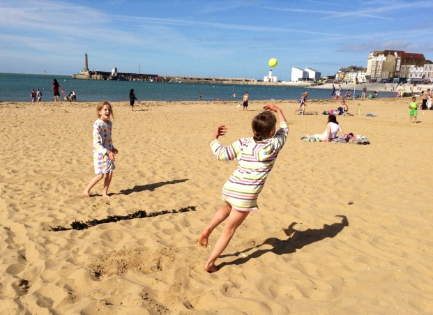 On the sand at Margate
