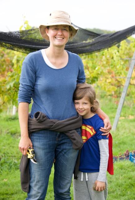 Ingrid with Superman