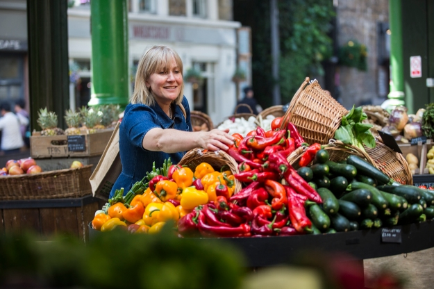 Jenny Chandler in Borough Market, photograph by Simon Rawles