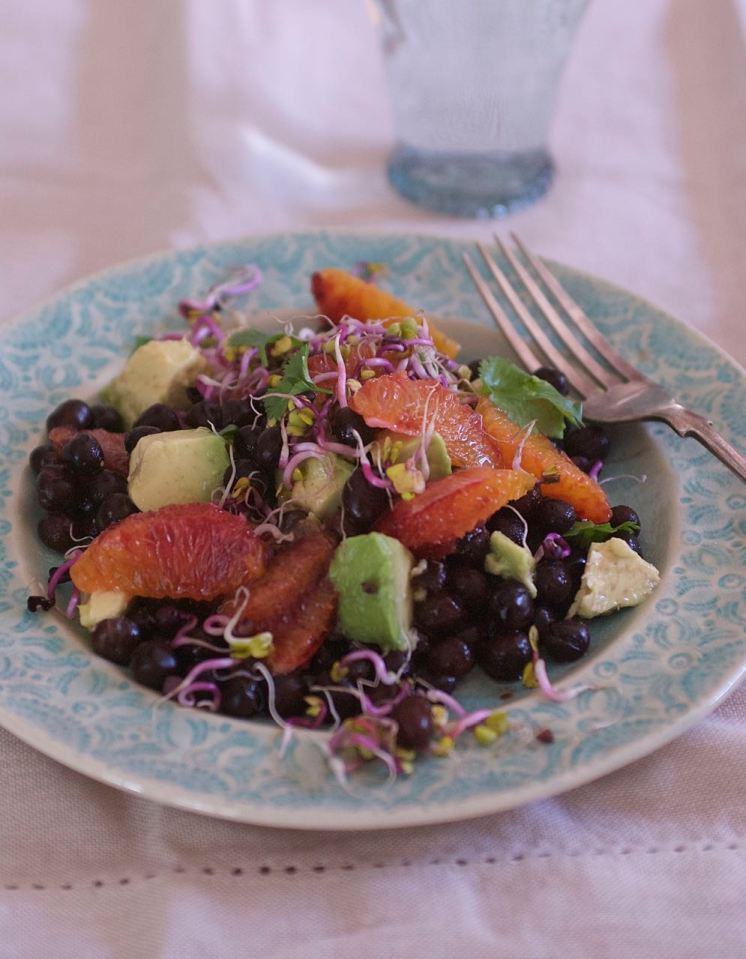 Jenny Chandler Blood Orange and Black Badger Salad
