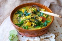 Sambar - Southern Indian dal with vegetables