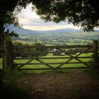 Looking over the Usk Valley