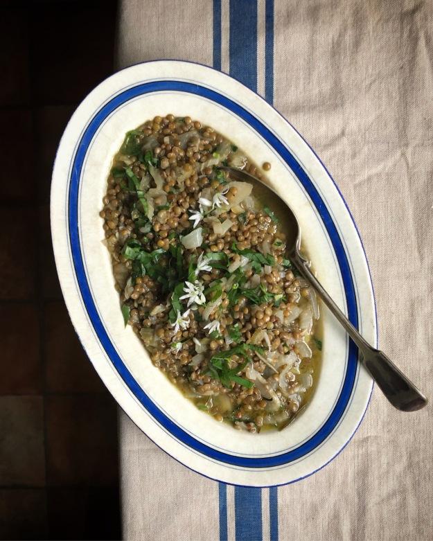 St John's style green lentils